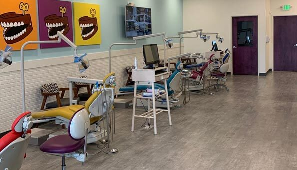 colorful dentist office